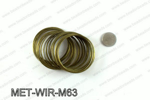 Memory wire, Medium size 0.6x60, Bronze MET-WIR-M63