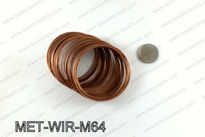 Memory wire, Medium size 0.6x60, Copper MET-WIR-M64