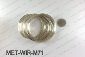 Memory wire, Large size 0.6x70, Light Silver MET-WIR-M71