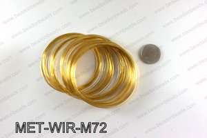 Memory wire, Large size 0.6x70, Gold MET-WIR-M72