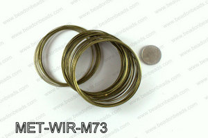 Memory wire, Large size 0.6x70, Bronze MET-WIR-M73