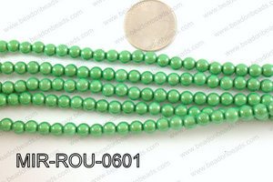 Miracle Bead Green 6mm MIR-ROU-0601