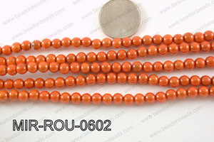 Miracle Bead Orange 6mm MIR-ROU-0602