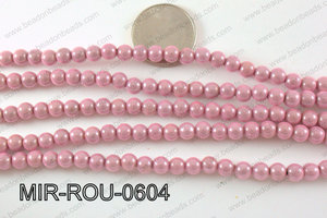 Miracle Bead Light Pink 6mm MIR-ROU-0604