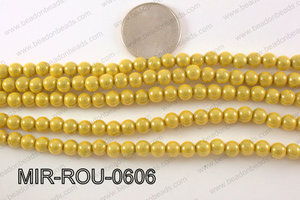 Miracle Bead Yellow 6mm MIR-ROU-0606