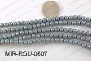 Miracle Bead Grey 6mm MIR-ROU-0607
