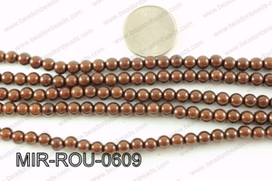 Miracle Bead Brown 6mm MIR-ROU-0609