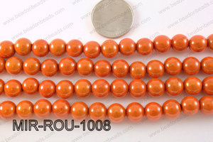 Miracle Bead Orange 10mm MIR-ROU-1008