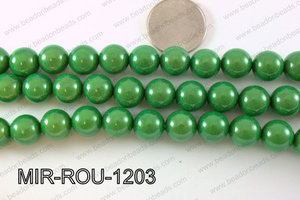 Miracle Bead Green 12mm MIR-ROU-1203