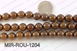 Miracle Bead Brown 12mm MIR-ROU-1204