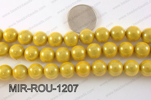 Miracle Bead Yellow 12mm MIR-ROU-1207
