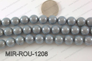 Miracle Bead Grey 12mm MIR-ROU-1208