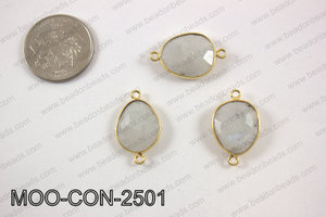 Moonstone oval connector 16X25mm MOO-CON-2501
