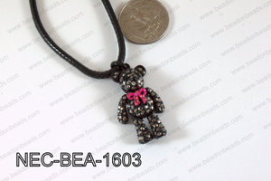 Necklace With Bear Black 34mmNEC-BEA-1603