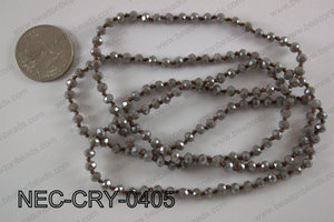 4mm crystal necklace NEC-CRY-0405