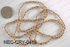 4mm crystal necklace NEC-CRY-0416