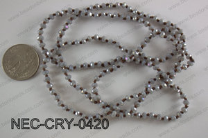 4mm crystal necklace NEC-CRY-0420