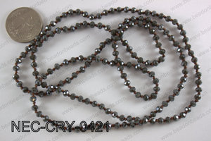4mm crystal necklace NEC-CRY-0421