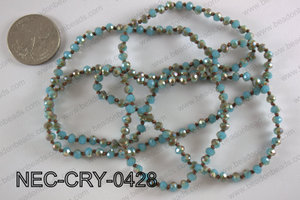4mm crystal necklace NEC-CRY-0428