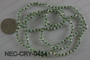 4mm crystal necklace NEC-CRY-0434