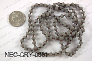 6mm crystal necklace NEC-CRY-0601