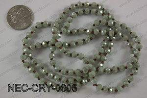 6mm crystal necklace NEC-CRY-0605