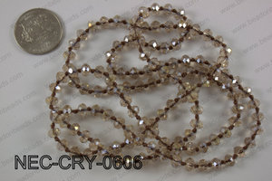 6mm crystal necklace NEC-CRY-0606