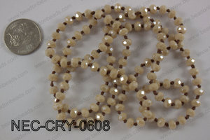 6mm crystal necklace NEC-CRY-0608