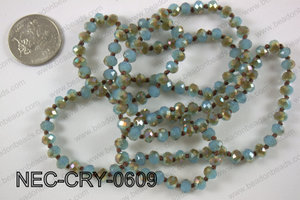 6mm crystal necklace NEC-CRY-0609
