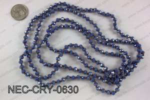 6mm crystal necklace NEC-CRY-0630