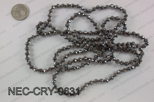 6mm crystal necklace NEC-CRY-0631