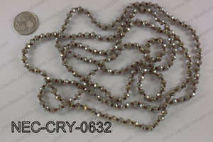 6mm crystal necklace NEC-CRY-0632