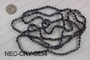6mm crystal necklace NEC-CRY-0634