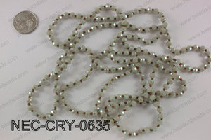 6mm crystal necklace NEC-CRY-0635