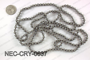 6mm crystal necklace NEC-CRY-0637