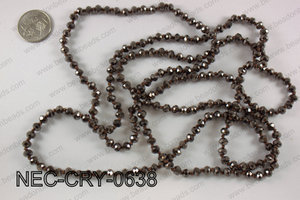 6mm crystal necklace NEC-CRY-0638