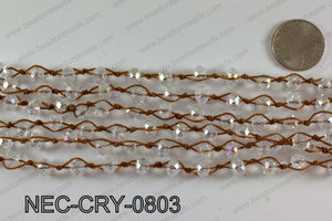 Knotted 8mm crystal necklace NEC-CRY-0803