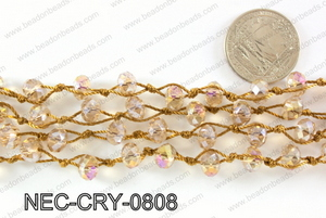 Knotted 8mm crystal necklace NEC-CRY-0808