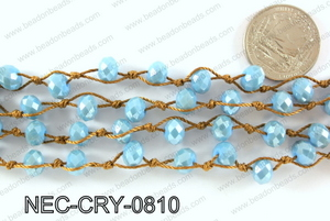 Knotted 8mm crystal necklace NEC-CRY-0810