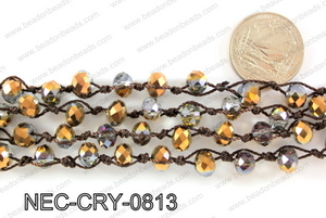 Knotted 8mm crystal necklace NEC-CRY-0813