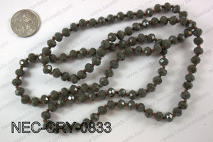 8mm crystal necklace NEC-CRY-0833