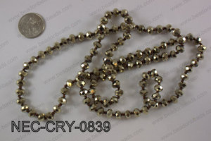 8mm crystal necklace NEC-CRY-0839