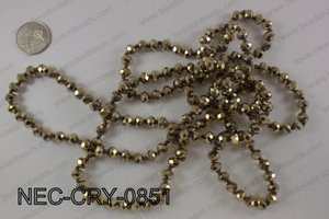 8mm crystal necklace NEC-CRY-0851
