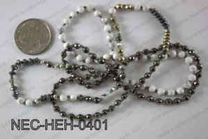 4mm hematite necklace NEC-HEH-0401
