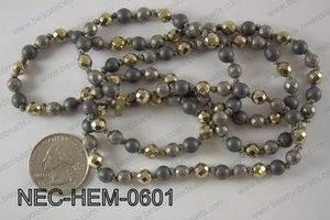 6mm hematite necklace NEC-HEM-0601