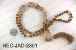 Jade and seed bead necklace NEC-JAD-2301