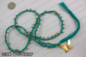Thread necklace with butterfly charm NEC-THR-2307