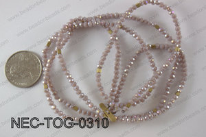 3mm crystal with toggle clasp necklace  NEC-TOG-0310