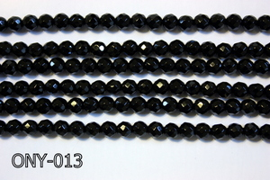 Black Onyx Faceted Round 4mm ONY-013