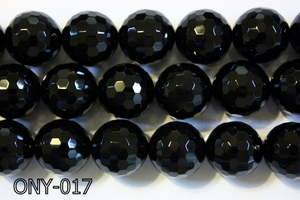 Black Onyx Faceted Round 18mm ONY-017
